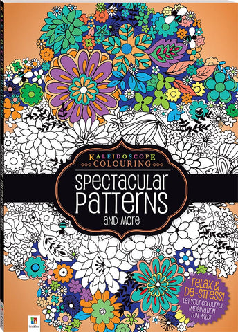 Adult Colouring - Kaleidoscope Spectacular Patterns