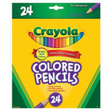 Crayola Coloured Pencils Full Sized 24pk