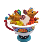 Britto Jaq & Gus in Teacup Figurine