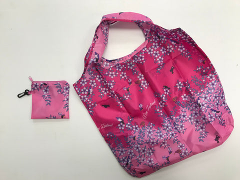 Reusable Bag - Manuka Flowers & Birds Pink