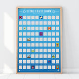 100 Things To Do After Quarantine - Scratch Poster