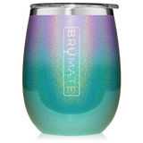 BruMate  Wine Glass  Glitter Mermaid Ombré
