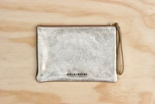Leather Pouch Gold by Stella and Gemma