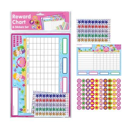 Reward Chart & Sticker Set Mermaid