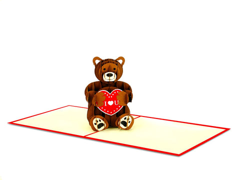 Teddy Bear 3D Creative Pop Up Card