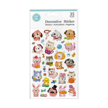 Stickers Cats Dogs Bunnies