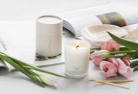 Living Light: Rose & Sandalwood Candle Small