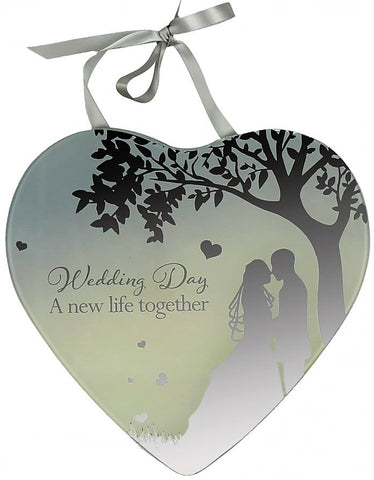 Reflections Of The Heart Mirror Plaque - Wedding Day