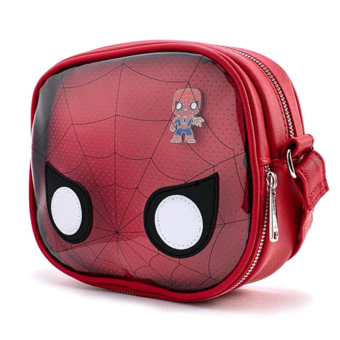 Loungefly: Spider-Man - Spider-Man Pin Collector Crossbody Bag with Pin