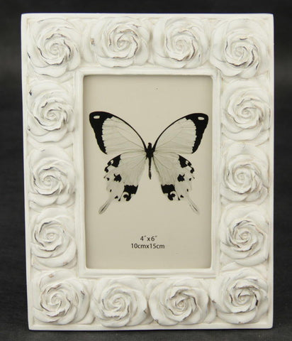 Roses Photo Frame Cream