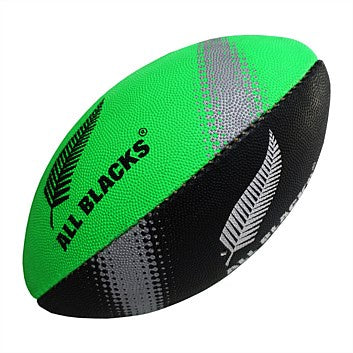All Blacks Supporter Rugby Ball 6 inch Lime