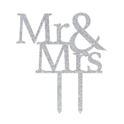 Wedding Mr & Mrs Cake Topper