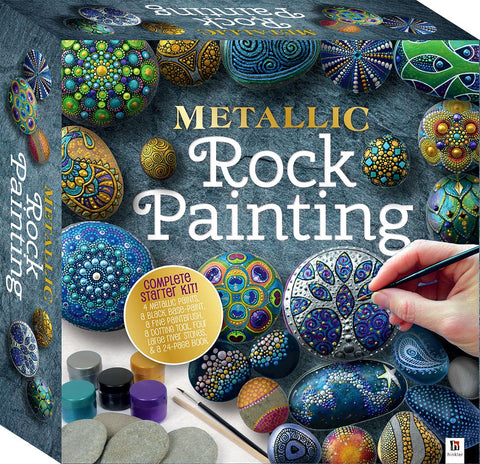 Metallic Rock Painting Box Set