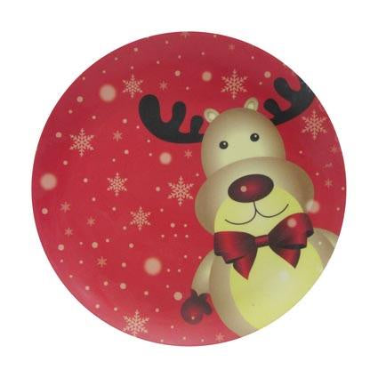 Christmas Reusable Melamine Plate 18cm