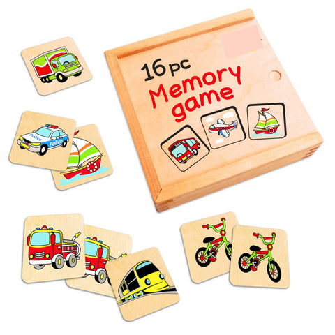 Memory Game Wooden 16pc
