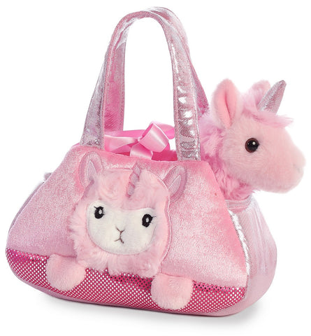 Fancy Pals Pet Bag - Peek a boo Llamacorn