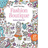 Fashion Boutique Wall Art - Jumbo Colouring Book