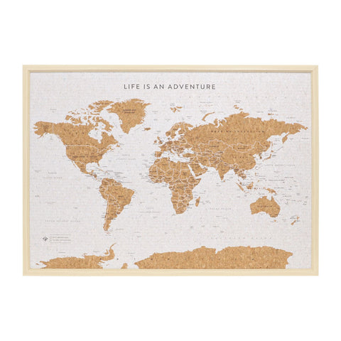 World Map Travel Board Small