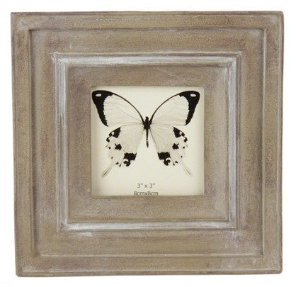 Stepped Classical Photo Frame Taupe 3x3