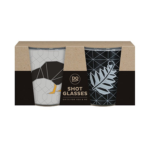 Shot Glass Set - Geo Kiwi & Fern