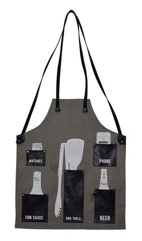 The Kiwi BBQ Apron - Black