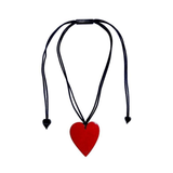 Zsiska Heart Necklace Red Small