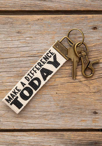 Canvas Keyring - Make A Difference Today