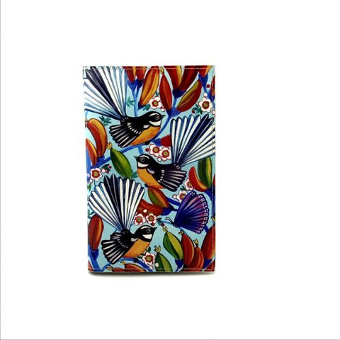 Native Bird Fantail Sky Travel Wallet