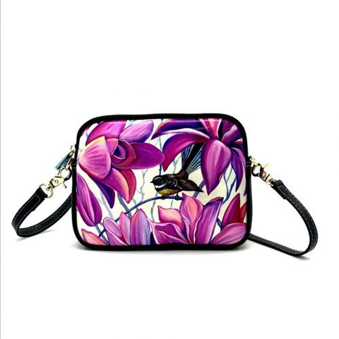 Native Bird Fantail Pink Shoulder Bag