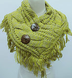 2 Button Mustard Scarf