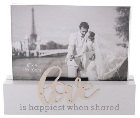 Sentiments Block Photo Frame - Love
