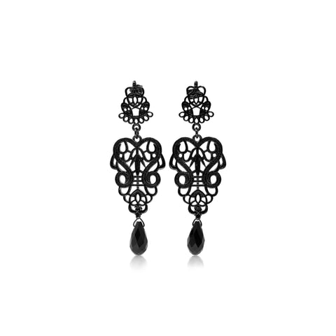 Palais Black Earrings