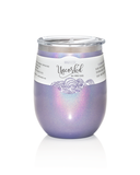 BruMate Wine Glass Glitter Violet