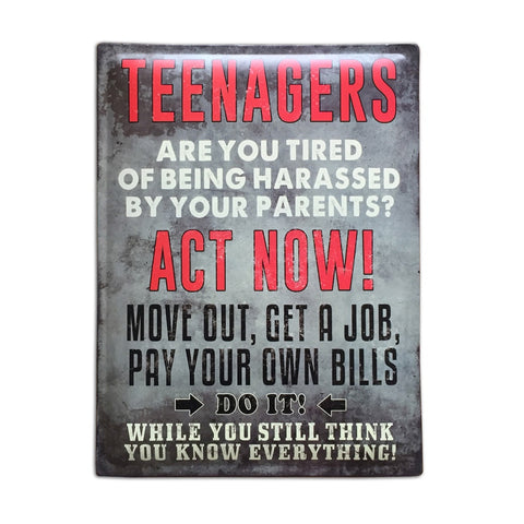 Teenagers Sign