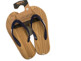 Moana Rd: Wood Look Jandals - Navy