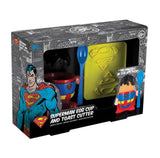 DC Comics Superman Egg Cup and Toast Cutter Set