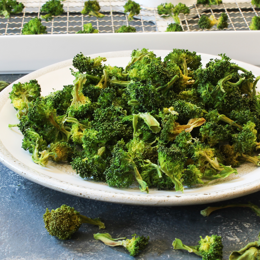 How to dehydrate broccoli for storage