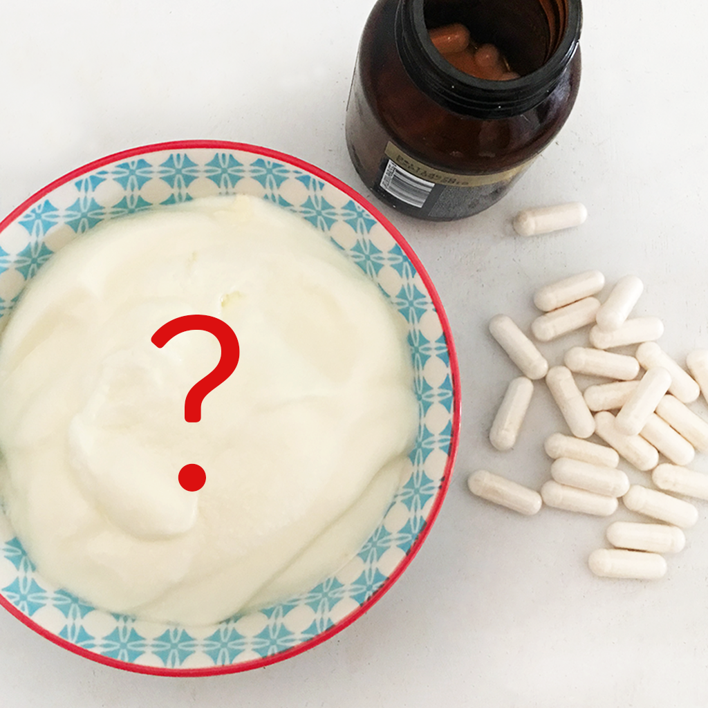 24 hour homemade yogurt Vs a probiotic pill