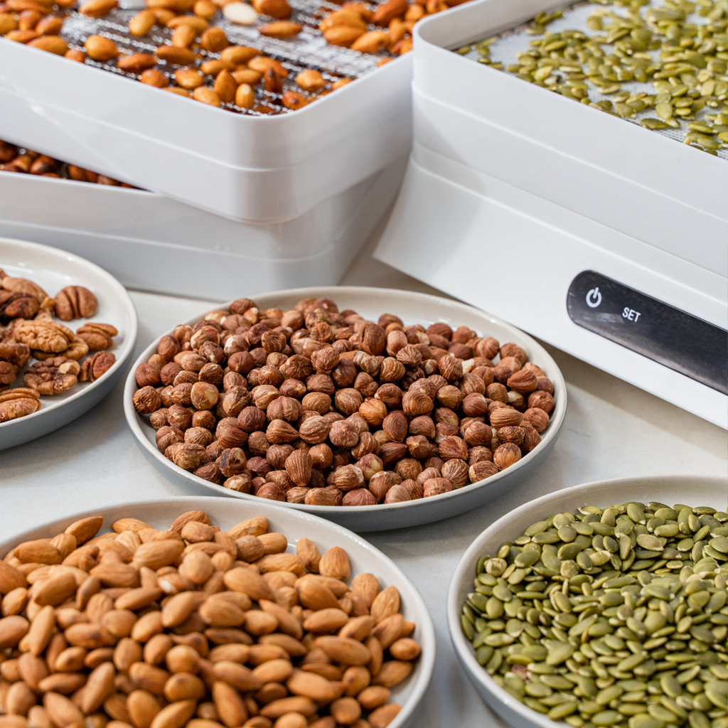 activating nuts in a food dehydrator