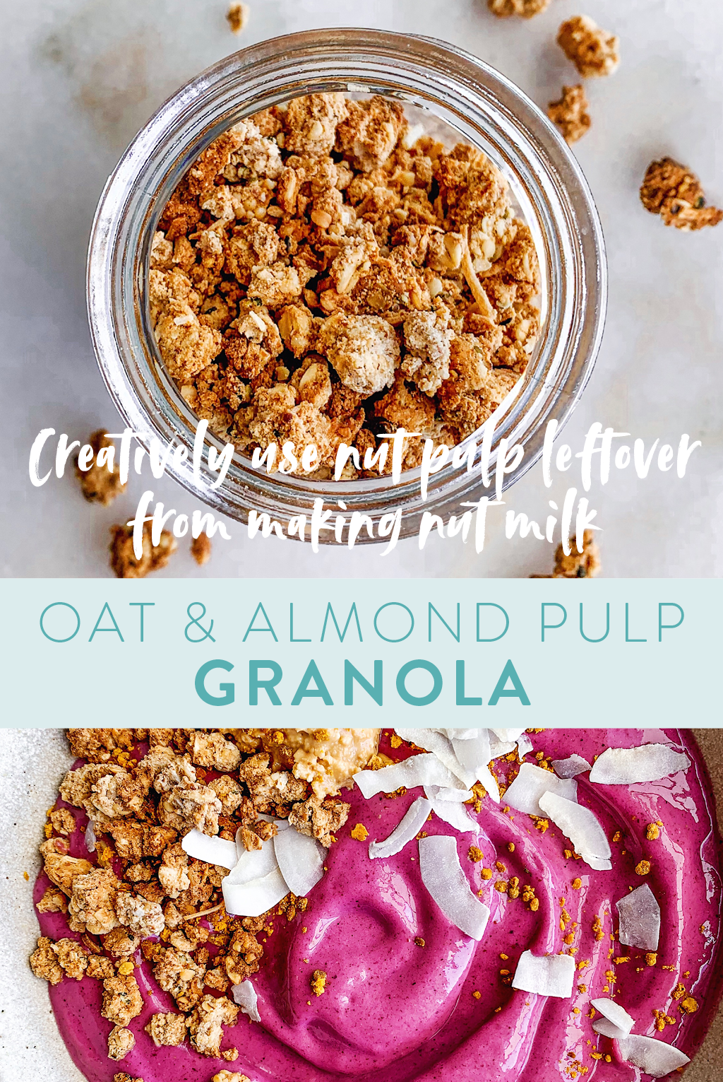 oat and almond pulp granola