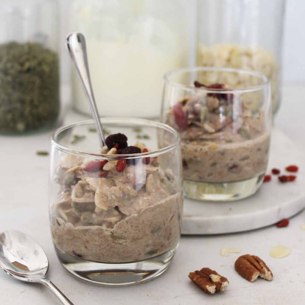 orange and anti-oxidant berry bircher style muesli