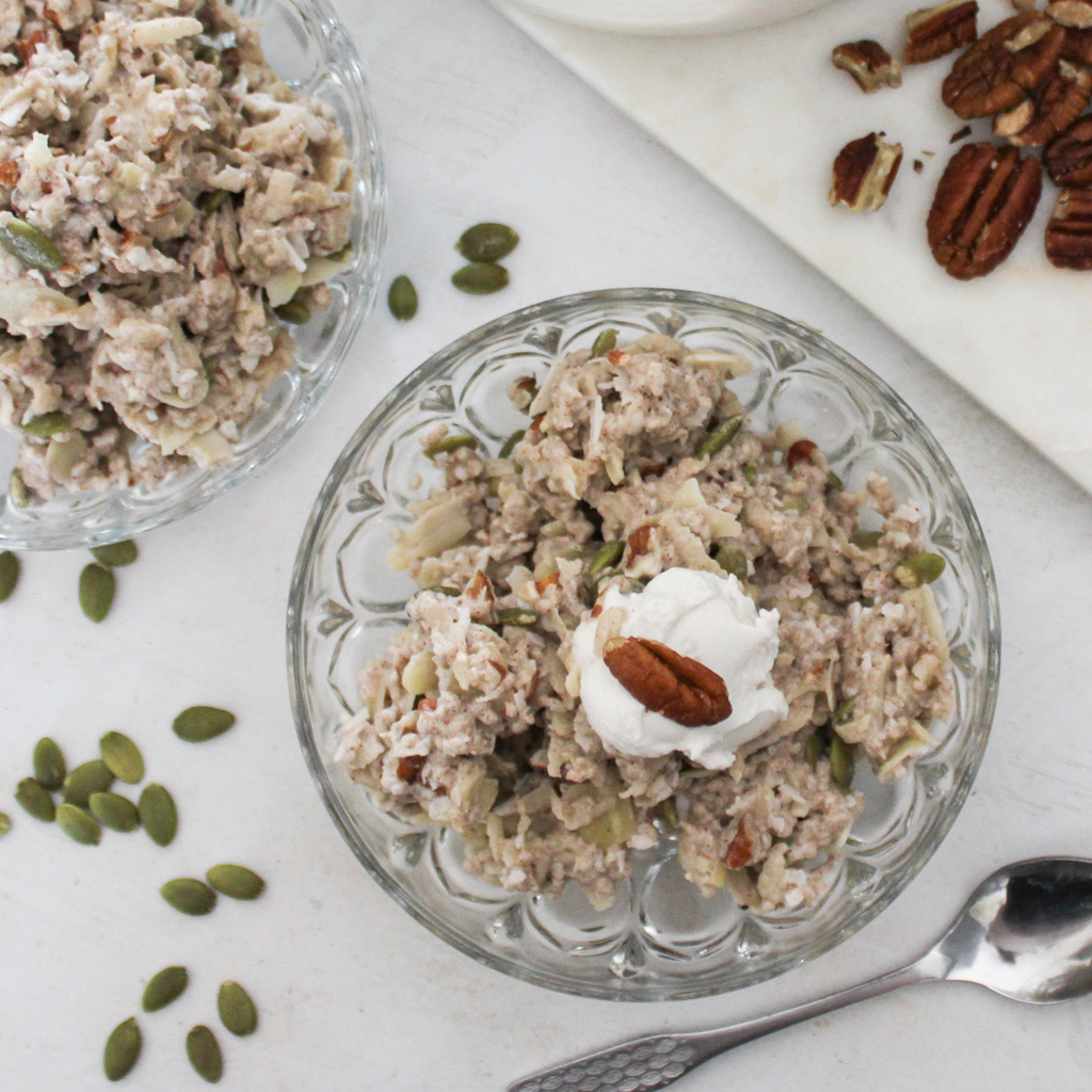 apple and cinnamon bircher muesli