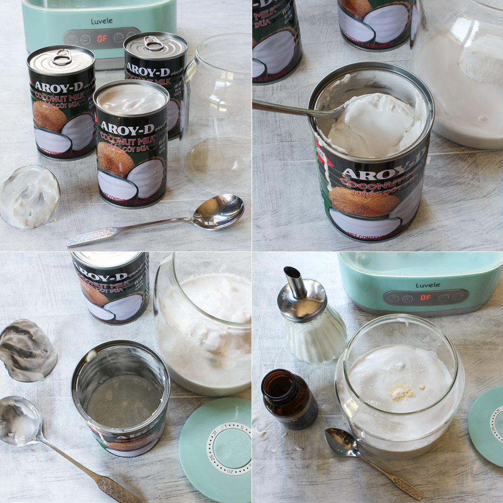 Aroy-d coconut yogurt method