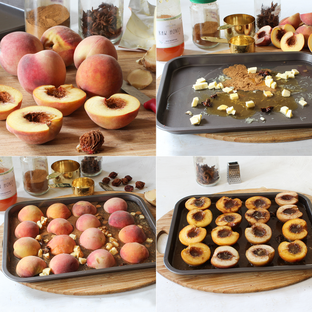 spiced baked peaches