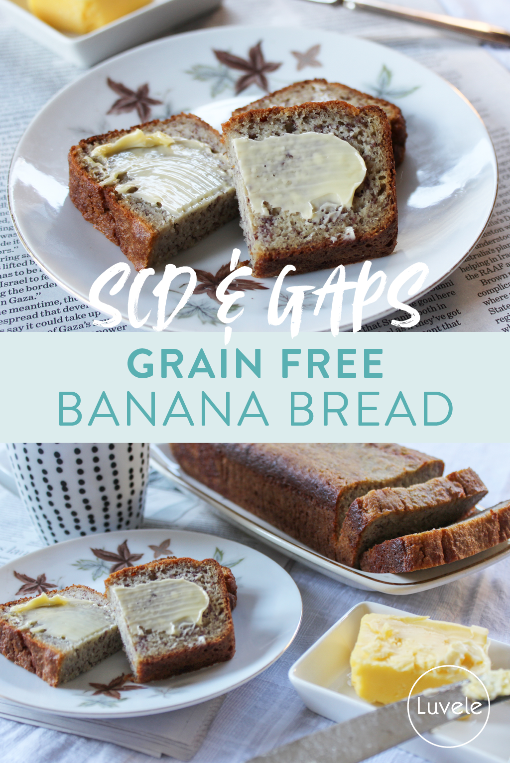 grain-free banana bread (SCD and GAPS)