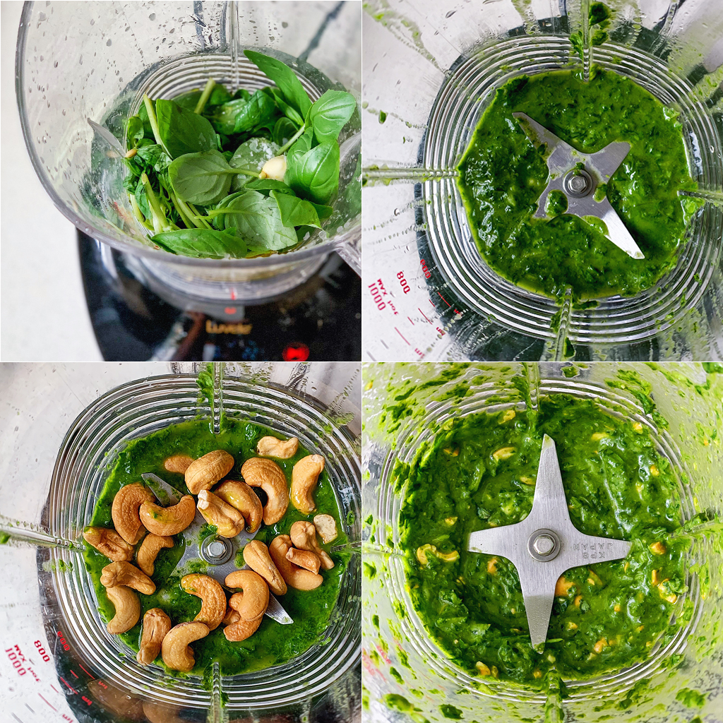 blender pesto method
