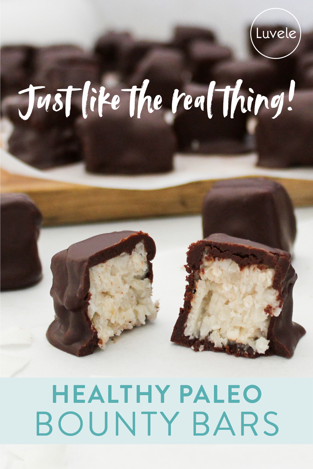 Homemade Paleo Bounty bars