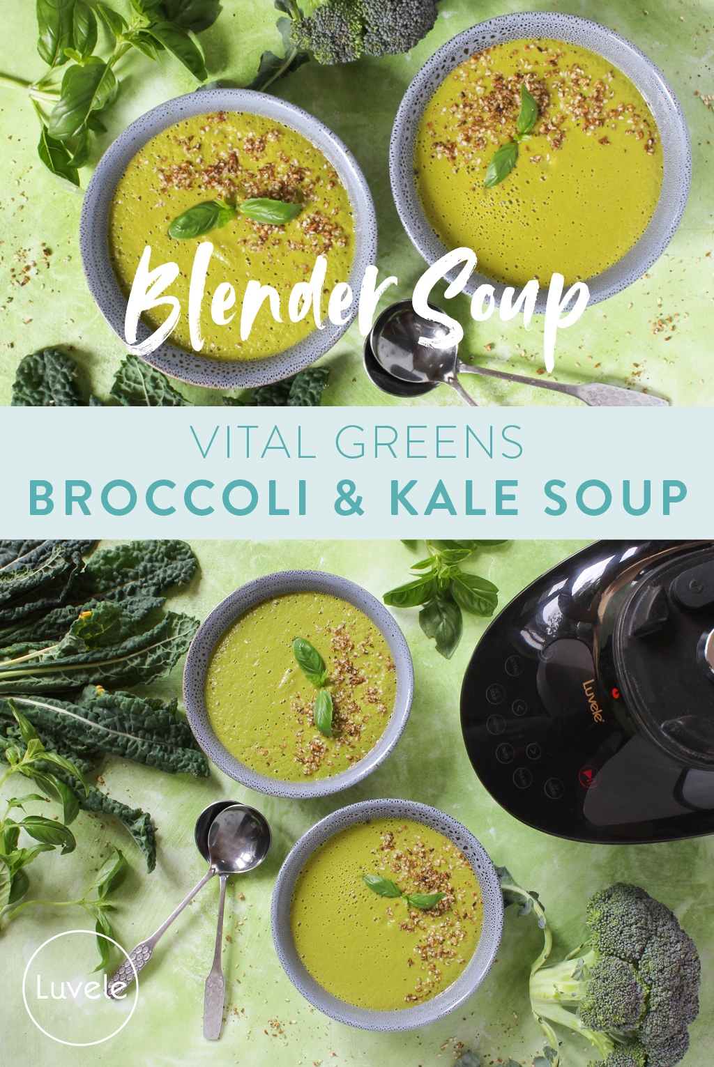 blender jug broccoli and kale soup