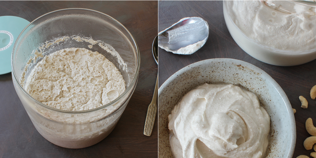homemade cashew and coconut yogurt method