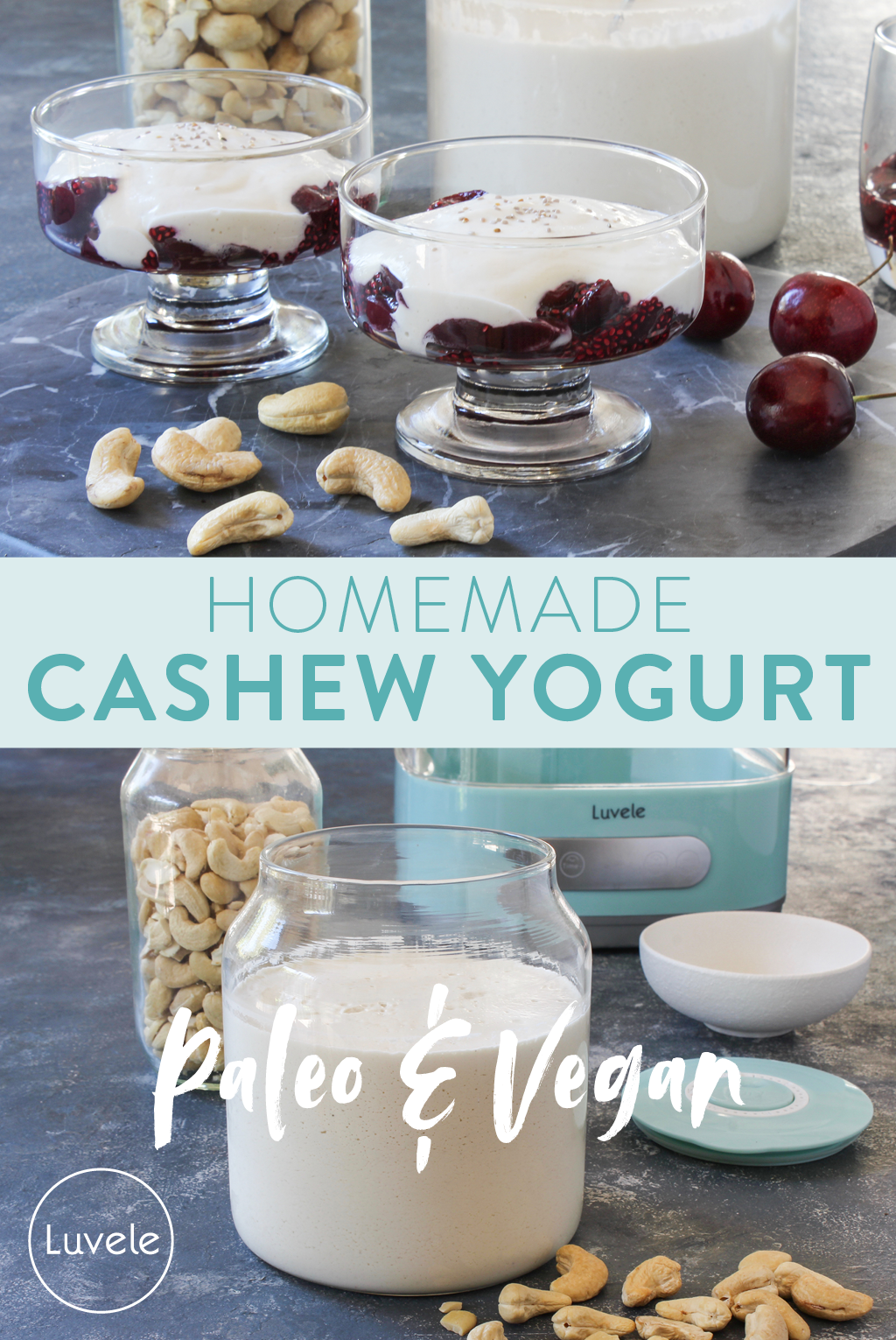 homemade cashew yogurt